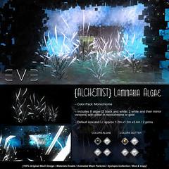 E.V.E {Alchemist} Laminaria Algae Monochrome (eve.studio (Noke Yuitza)) Tags: fantasy cyberpunk dystopia lea lindenendowmentforthearts eve 100originalmeshdesign animatedmeshparticlelights algae fantasyfair artanddesign shinyshabby