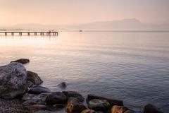 La calma della sera (Ale*66*) Tags: peschiera sunset tramonto silenzio silence pace peace lago lake italy