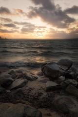 Sterno Sunset (Ludwig Sörmlind) Tags: karlshamn sternö sunset wind waves ocean sky sea clouds beautiful rocks blekinge sweden yellow warm