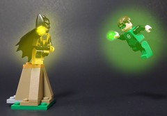 Lantern Glow (MrKjito) Tags: lego minifig super hero green lanter comic yellow lantern sinestro batman glow test hal jordan bruce wayne