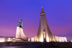 Hallgrimskirkja Church and Beautiful Sky (Iceland) (baddoguy) Tags: architecture armysoldier buildingexterior capitalcities cathedral church colorimage copyspace dawn design dramaticsky dusk famousplace hallgrimskirkja horizontal iceland igniting individuality internationallandmark jesuschrist monument nationallandmark night nopeople photography placeofworship protestantism religion reykjavik sky sunset tourism traveldestinations twilight