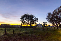 Farmhouse (Indigo Skies Photography) Tags: tokina1116mmf28 nikond7000 tree trees farm rural property sky sun clouds garden home house landscape art family light fence street red yellow blue pink orange green black colour leaf detail water flower nature old winter