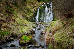 The wee waterfall (poach01) Tags: waterfall spring burn brook water moss craikforest