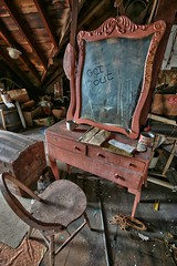 Rose's Farmhouse (58) (Darryl W. Moran Photography) Tags: urbandecay abandonedfarmhouse frozenintime leftbehind oldfarm urbex urbanexploration darrylmoranphotography oldfurniture