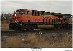 BNSF ES44C4 6802 (Robert W. Thomson) Tags: bnsf burlingtonnorthernsantafe ge diesel locomotive sixaxle es44 es44c4 gevo evolutionseries train trains trainengine railroad railway laurel montana