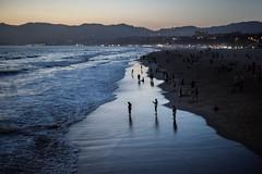 Dusk on the Beach (Geoff Livingston) Tags: sunset beach pier mountains blue hour dusk santa monica pacific ocean street