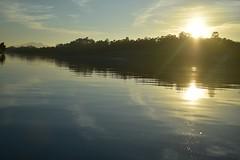 Ocaso en el Miño (Llópez) Tags: atardecer río portugal miño españa pontevedra agua paisaje verde valença minho sol ocaso vegetación calidez