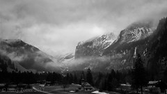 """""""These mist covered mountains"""" (if you know the next line ?) (Barry Potter (EdenMedia)) Tags: barrypotter edenmedia canon eos m5 switzerland kandersteg blackandwhite mist"""