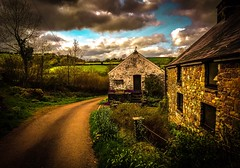 Rural Wales (Rae de Galles) Tags: path lane britain iphone southwales wildlife country skies barn flowers fields nature rural farmer farmhouse cymru wales