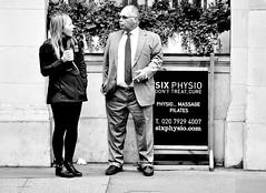 Fancy A Massage ? (jaykay72(Away For A While)) Tags: london uk street candid streetphotography londonist limestreet stphotographia blackandwhite bw