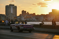 El Malecón (marin.tomic) Tags: car vintage havana habana havanna cuba kuba cuban malecon travel city urban caribbean nikon d90 sunset romantic sun skyline street water sea light