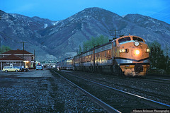 There's Beauty in the Blue Hour (jamesbelmont) Tags: drgw f9 zephyr provo utah passenger streamliner train locomotive railroad