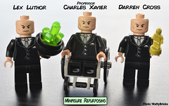 Minifigure Repurposing (WattyBricks) Tags: lego superheroes dc comics marvel lex luthor xmen professor charles xavier darren cross antman