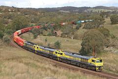 Through the range (Bingley Hall) Tags: transport train transportation trainspotting rail railway railroad australia newsouthwales nsw qube qbx freight intermodal cullerin mtu csrziyang qbx006 railpage:class=373 railpage:loco=qbx006 rpauqbxclass rpauqbxclassqbx006