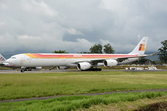 EC-INO Airbus A340-642 MROC 02-11-14 (MarkP51) Tags: ecino airbus a340642 a340 iberia ib ibe juansantamaria airport sanjose sjo mroc costarica centralamerica 2014 airplane aviation aircraft plane image markp51 nikob d7100 aviationphotography