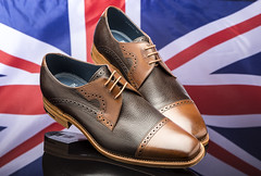 Shoes with style. (johnhjic) Tags: johnhjic nikon broncolor siror studio shoe shoes flag reflection reflections gent gents men mens flash fashion style hand made craftsmen craftsman