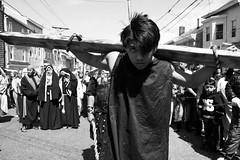 """Viernes Santo Procession."" (B.C. Lorio) Tags: viernessanto goodfriday cathedralofstjohnthebaptist paterson newjersey nj urbanjersey blackandwhite monochrome catholic romancatholicchurch procession xphotographer xe2s fujifilm fujifilmxus xf23mmf2 xseries"