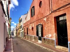 """Terracota"" (atempviatja) Tags: menorca mahón terracota ciudad calle casas color fachadas"