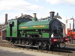 IMG_4827 - GWR Hudswell Clarke Saddle Tank 813 (SVREnthusiast) Tags: didcotrailwaycentre didcot railway centre gwrhudswellclarkesaddletank813 gwr hudswellclarke saddletank 813