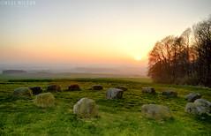 ancient burial site (Neal J.Wilson) Tags: grave burial stones stoneage ancient historic history saby jutland jylland nikon d3200 denmark danishlandscapes dusk sunrise sunset scandinavia nordic trees easter