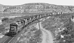SP, Sanderson, Texas, 1987 (railphotoart) Tags: 8019 8017 stillimage sanderson texas unitedstates