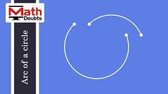 Arc of a circle (Math Doubts) Tags: arc mathdoubts mathematics geometry circle