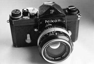 Plain prism Nikon F and 50mm f2