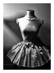 SILFER! (Ageeth van Geest) Tags: monochrome blackandwhite window girl shop white black dress silfer reflection