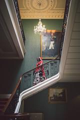 Sonal - Staircase (Robbie Khan) Tags: 2017 addingtonpalace canon croydon hiren koweddings portrait portraitture robbikhan shah sigma sonal wedding weddingphotography