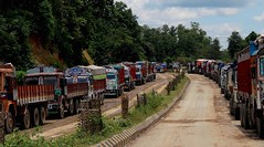 truck stuck (dhroobhbhattacherya) Tags: national churaibari tripura india