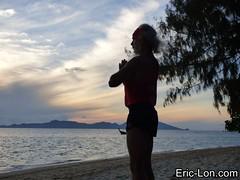 Yoga sun salutations at Kradan (23) (Eric Lon) Tags: kradanyogaavril2017 yoga sunrise salutations asanas poses postures beach plage mer thailand kradan island ile stretching flexibility etirement souplesse body corps fitness forme health sante ericlon