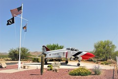 F-4E Phantom-II 66-0294/4 ex USAF. Thunderbirds c/s. Preserved at Veterans Memorial, Corona de Tucson, Arizona. 04-06-2016. (Aircraft throughout the years) Tags: mcdonnell douglas f4 f4e phantomii 660294 usaf thunderbirds preserved veterans memorial corona de tucson coronadetucson arizona 04062016