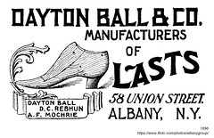 1896 dayton ball lasts (albany group archive) Tags: albany ny history vintage 1896 dayton ball lasts shoe rebhun mochrie union street old historic historical photos