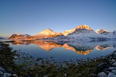 sunset reflections (John A.Hemmingsen) Tags: grøtfjord tromsø fujifilm fisheye landscape sunset snow mountains