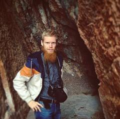 Еще немножко в монтенегро. В расщелине горы 🗻 #montenegro #cliff #hill #me #beard #beardman #moustache #outside #nikon #camera #nature #red #orange (pgubanov) Tags: instagramapp square squareformat iphoneography uploaded:by=instagram skyline