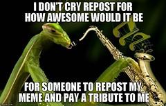 Everybody was doing it... (vbgroup007) Tags: funny mantis mantisplayingsax prayingmantis repost