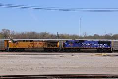Westbound UP Auto Train at Kansas City, KS (Mo-Pump) Tags: railroad train locomotive railfan railroader
