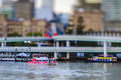 Mini Ferry (g0rsty) Tags: brisbane southbank tiltshift