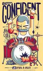 Be confident! (anggatantama) Tags: musician music illustration cat mouse graphicdesign spider vectorart tshirt drummer illustrator commission tee tshirtdesign vector tshirtgraphic jackcloth