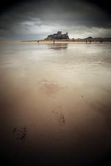 Bamburgh Castle (Furious Zeppelin) Tags: sea castle beach water print foot sand nikon northumberland bamburgh d80 furiouszeppelin fz
