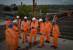 David Cameron at Reading Elevated Railway (The Prime Minister's Office) Tags: uk london reading infrastructure pm primeminister downingstreet no10 davidcameron