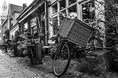 (McQuaide Photography) Tags: blackandwhite bw holland haarlem netherlands monochrome bike bicycle canon blackwhite europe nederland powershot fietsen fiets g15 rijwiel mcquaidephotography