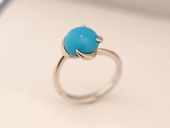 ターコイズのエンゲージリング   Turquoise Engagement Ring (jewelrycraft.kokura) Tags: engagement turquoise 指輪 12月 ターコイズ トルコ石 婚約指輪 エンゲージリング 誕生石