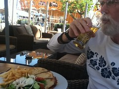Larry at Larnica, Cyprus (LarrynJill) Tags: food lunch mediterranean cyprus larry onlycyprus