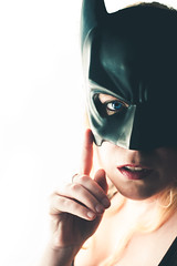 20 / 52 (Erin_Takes_Pictures) Tags: light portrait selfportrait window project mask natural indoor super hero superhero batman gotham weeks 52 fiftytwo