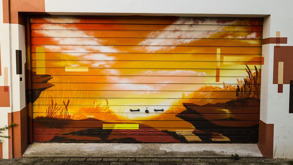 Canyon On Door (SpotShot) Tags: Door Canon Eos Graffiti 22 Garage Spray M