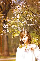 (Mizuki chan) Tags: park pink white flower tree green nature girl forest garden cherry asian japanese march spring warm blossom sweet russia moscow may petal  sakura mori tender hanami 2014