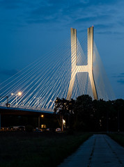 The Giant (Maciek Lulko) Tags: longexposure bridge architecture night nikon highway motorway bridges poland polska most infrastructure bluehour nightphotos wroclaw wrocaw breslau breslavia nikkor2870 architecturephotos mostywrocawia nikond7000 mostrdziski