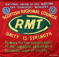 May Day in Edinburgh (1789Photography) Tags: street costumes music march dance edinburgh union ric banners mayday republican activists ssp placards unison sworddance rcn rmt bobcrow buildimgs jamesconnollysociety