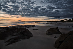 the edge of forever (keith midson) Tags: sky beach clouds sunrise rocks tasmania bridport
